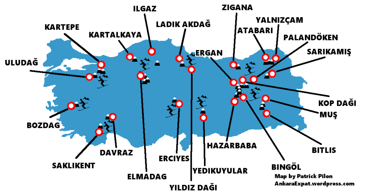 turkey map ski full